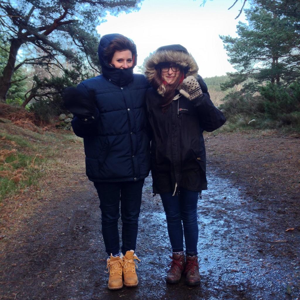 Lynsay & Maddy at Loch Morlich